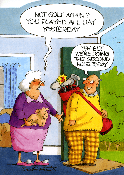 Funny Cards - Golf Again? Played All Day Yesterday