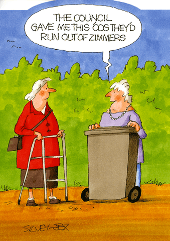 Funny Cards - Run Out Of Zimmers