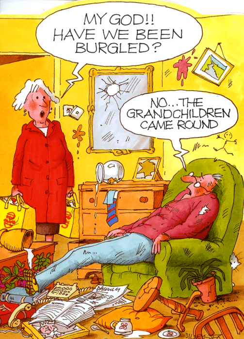 Funny Cards - Have We Been Burgled?