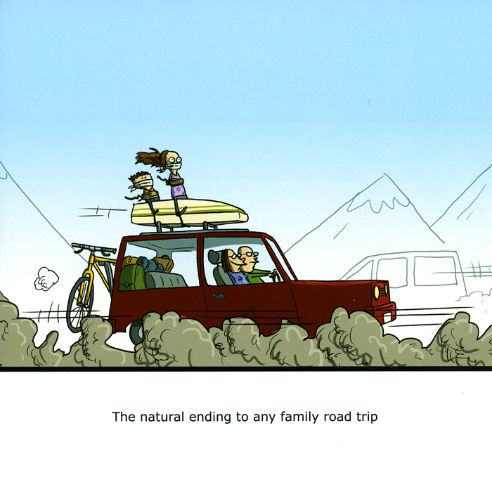 Funny Cards - Family Road Trip