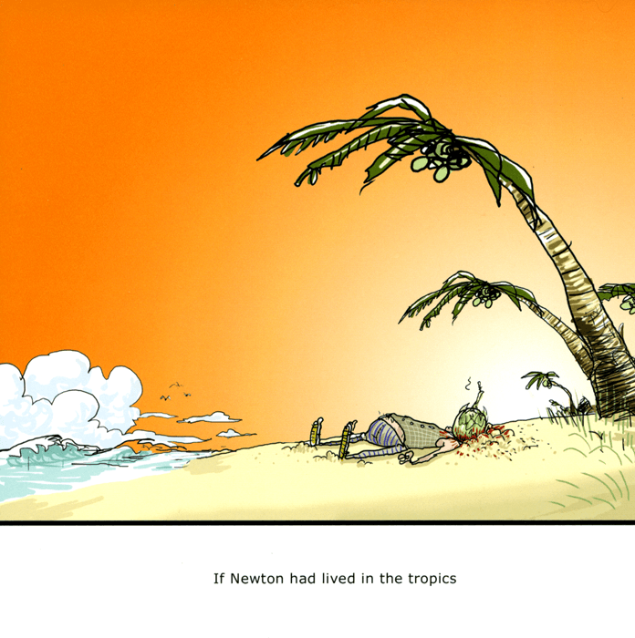 Funny Cards - If Newton Had Lived In The Tropics