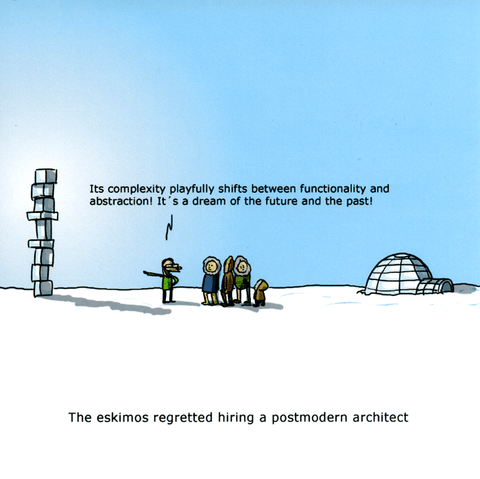 Funny Cards - Postmodern Architect