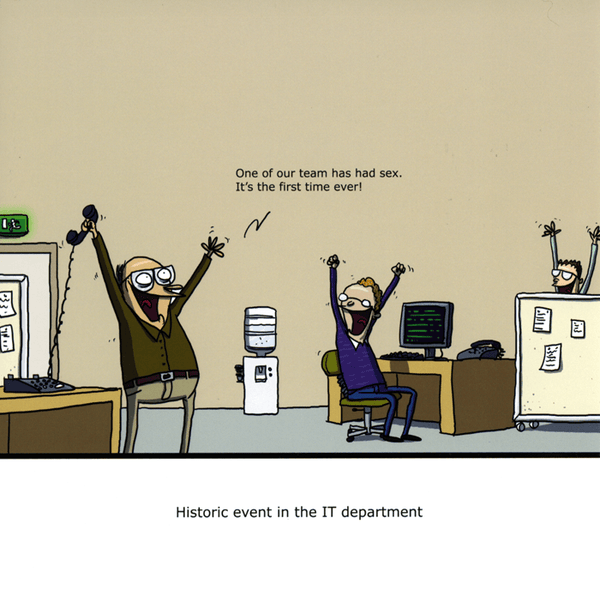 Funny card by Wulffmorgenthaler - IT department | Comedy Card Company