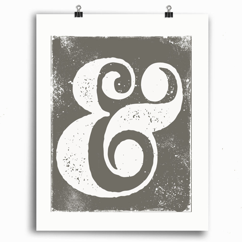 Ampersand Icon • Typography Print