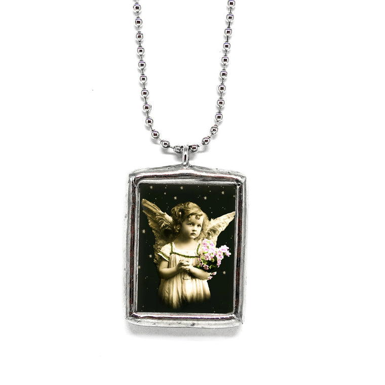 Angels Are Everywhere • Soldered Glass Pendant