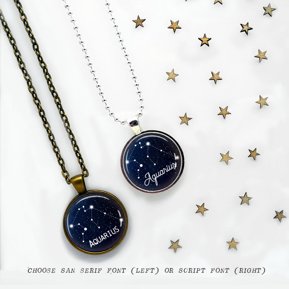Aquarius Constellation Pendant