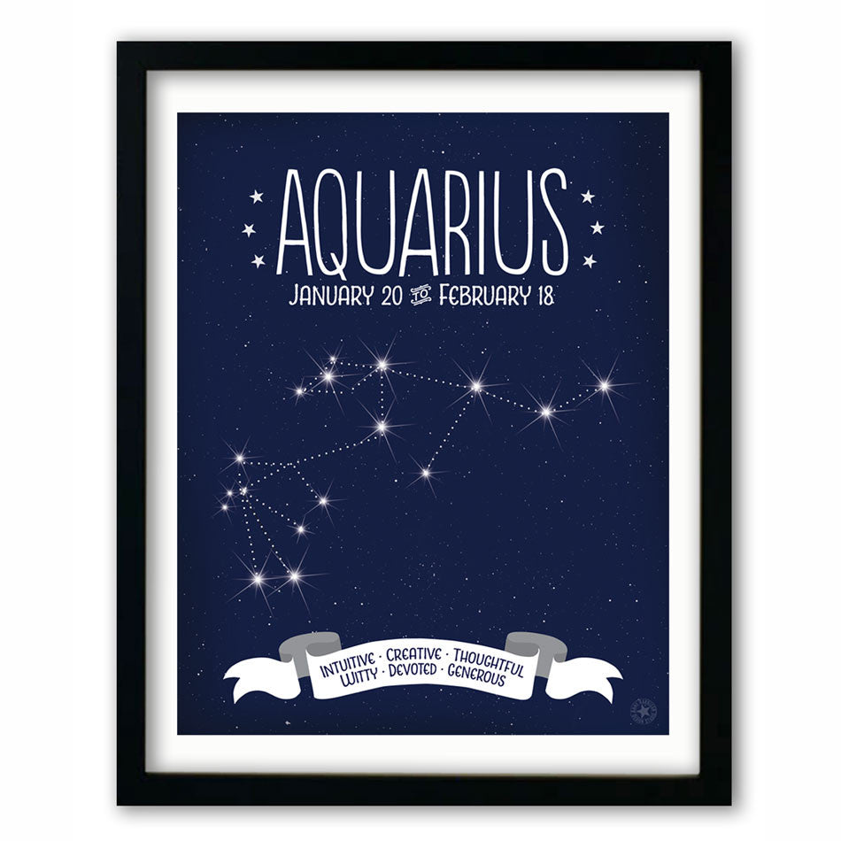 Aquarius • Constellation Print