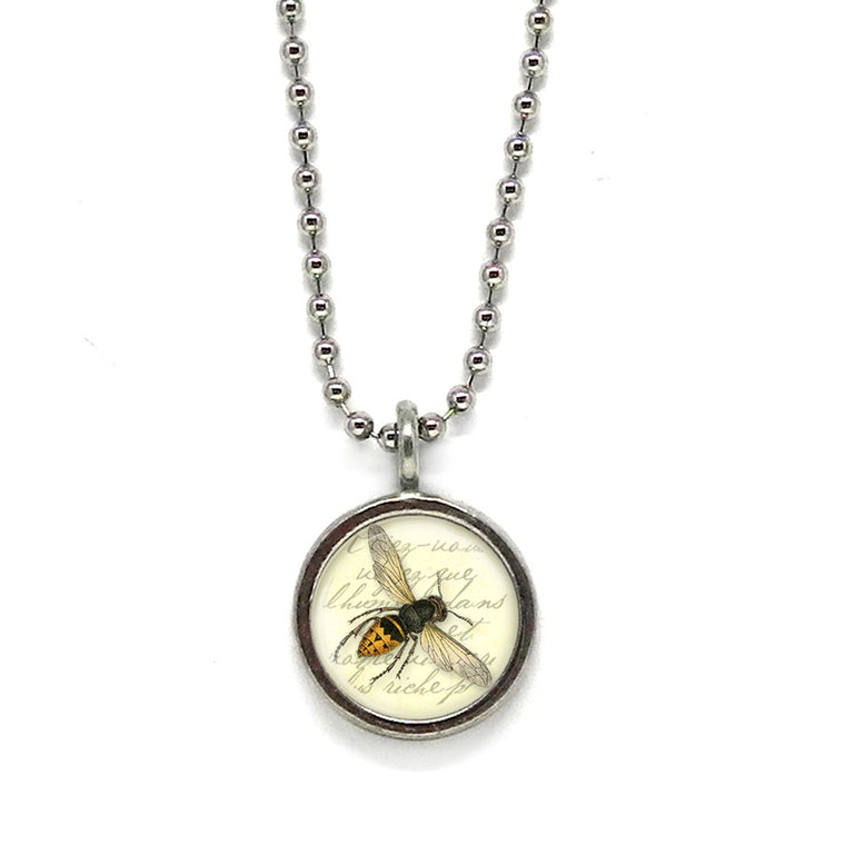 Honey Bee Pendant • Message Choices