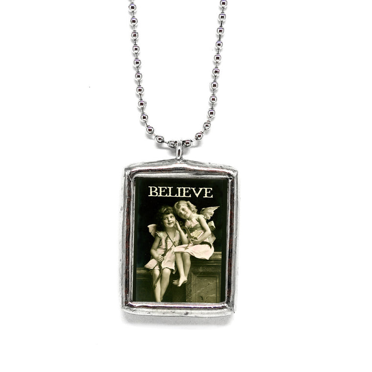 Believe • Soldered Glass Pendant