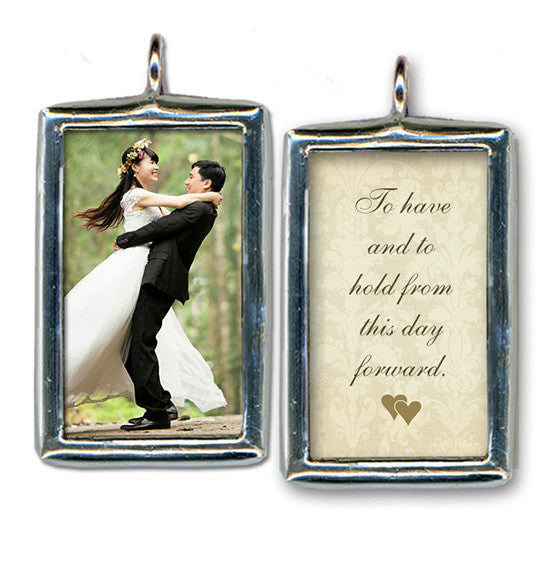 Custom Keepsake Pendant / Wedding Bouquet Charm - Anne Garrison Studio