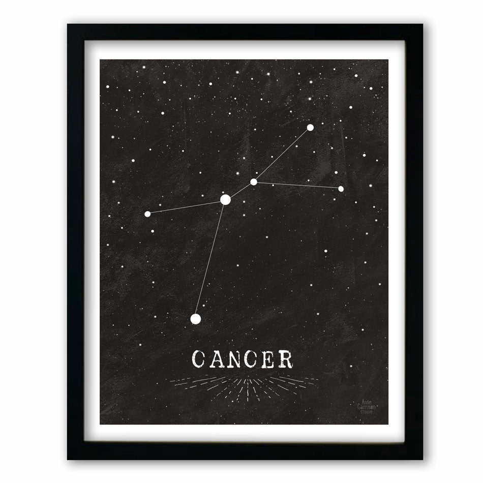 Cancer • Black & White Zodiac Print