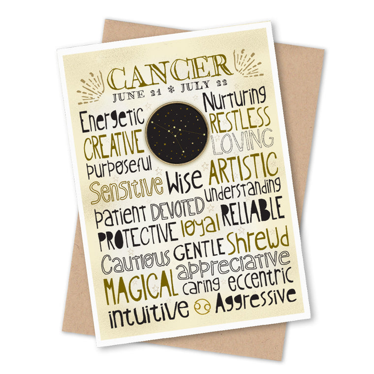Cancer Zodiac Blank Greeting Card