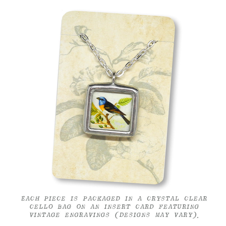 Bright Gold Oriole • Message Choice Pendant