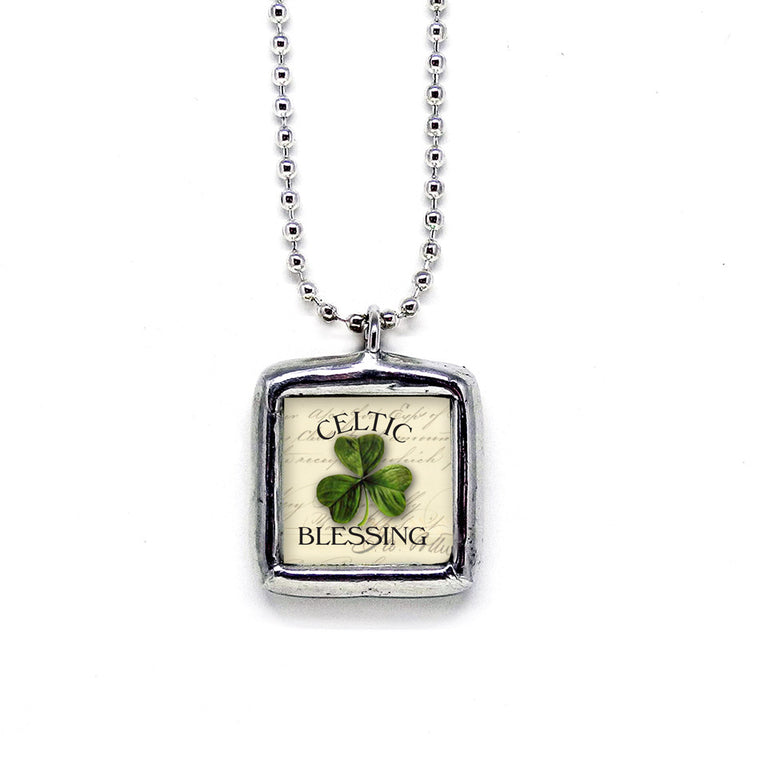 Celtic Blessing • Irish Wisdom Pendant