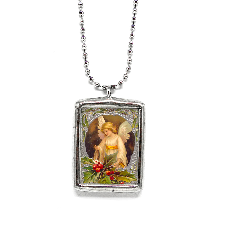 Christmas Angel • Soldered Glass Pendant
