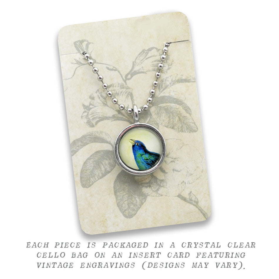 Blue Baby Footprint Pendant • Message Choices