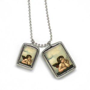 Classic Angels • Soldered Glass Pendant