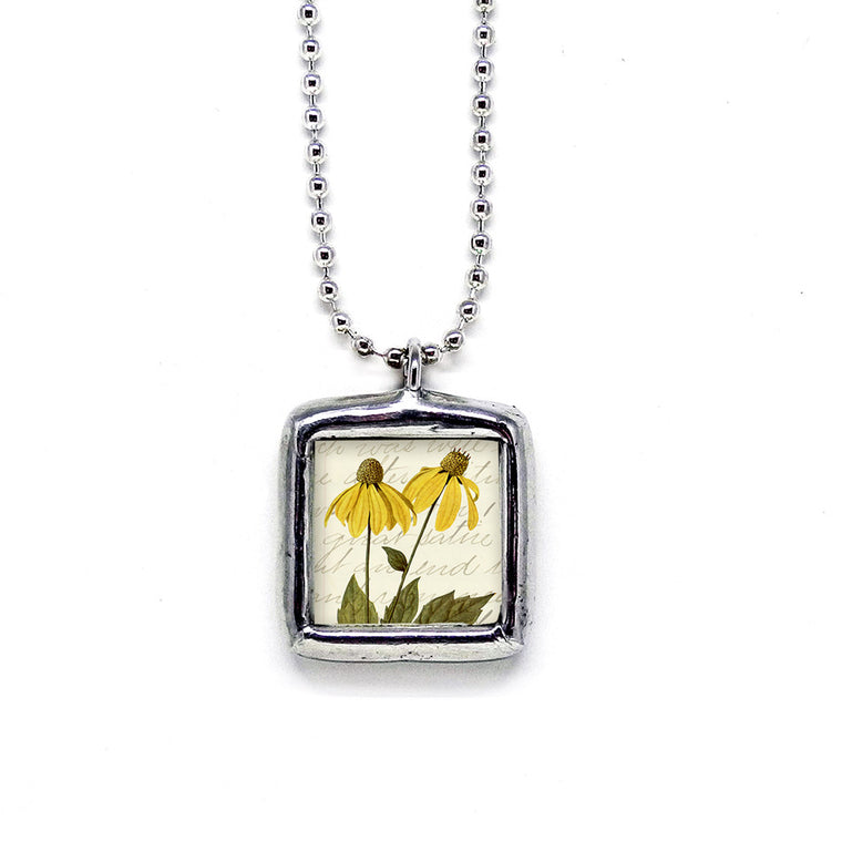 Conehead Flowers Nature Pendant • Choice Of Message