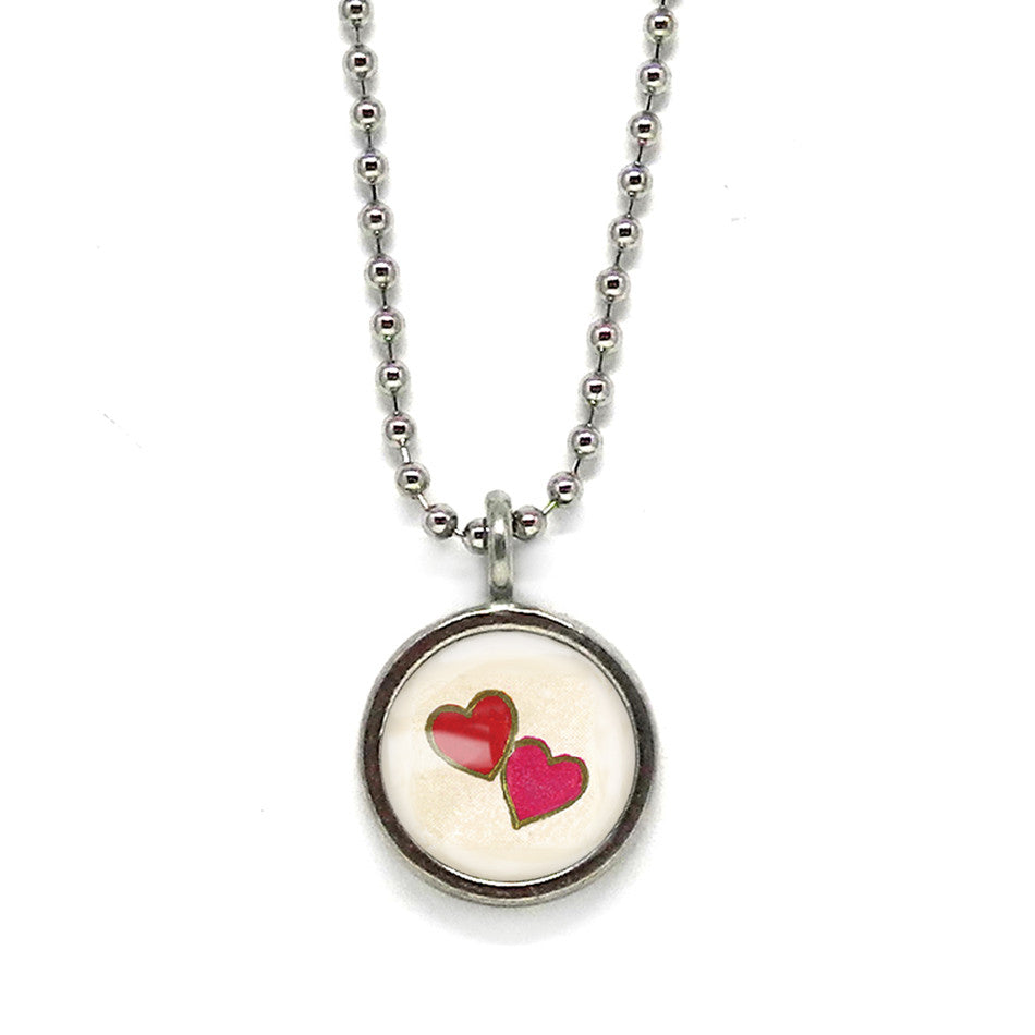 Double Heart Necklace • Choose a Message