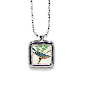 Colorful Eastern Bluebird • Message Choice Pendant