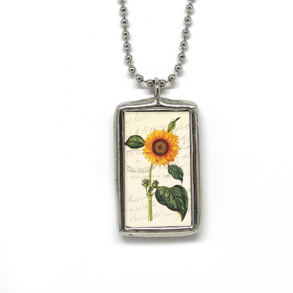 Sunflower Botanical • Quote Pendant