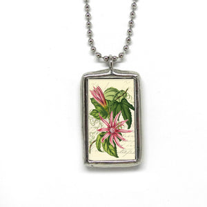 Passion Flower Botanical Pendant • Grateful Heart Affirmation