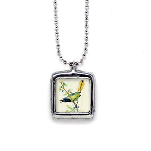 Green Jay Bird • Nature Jewelry Pendant
