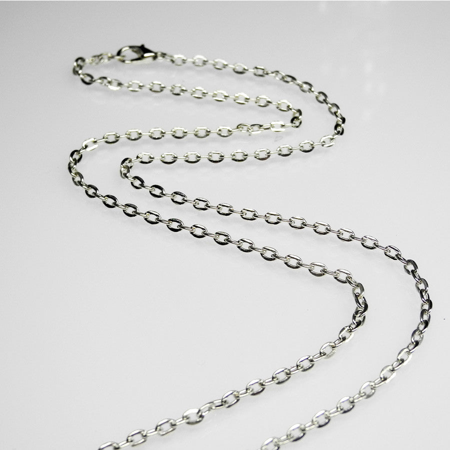 "NEW Link Chain • 24"" Silver-Plated"