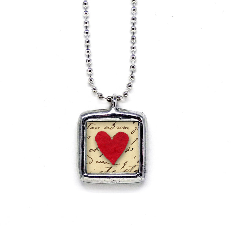 Love Never Fails • Soldered Glass Pendant