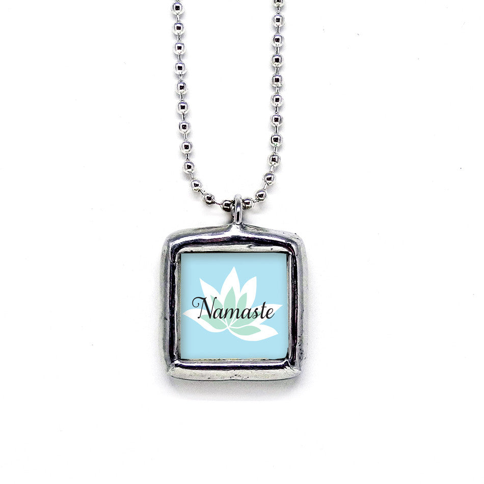 Namaste • Soldered Glass Pendant