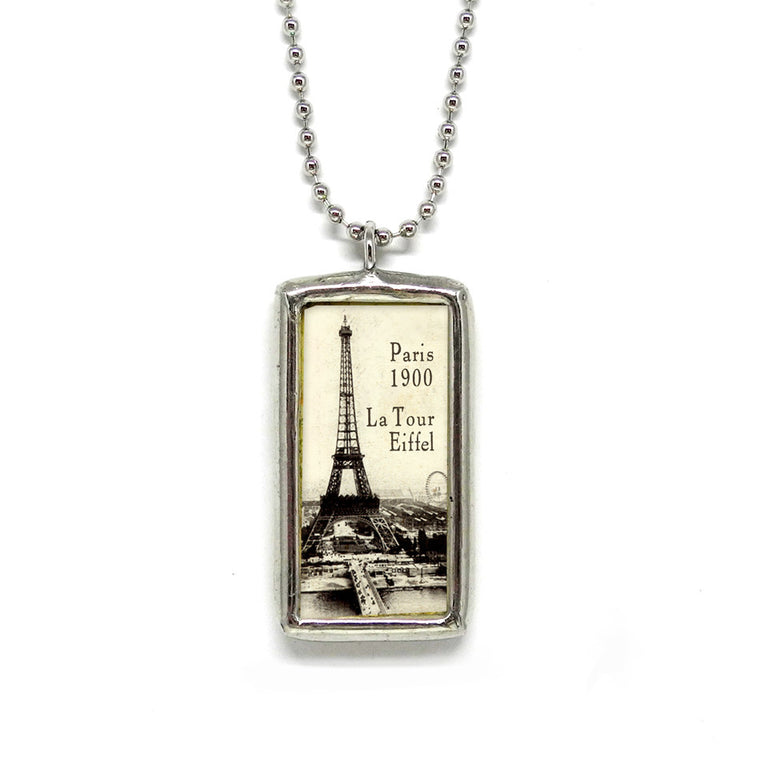 1900 Eiffel • Soldered Glass Pendant