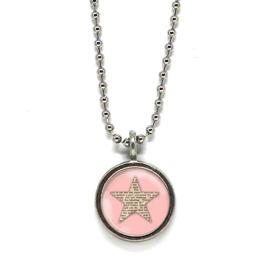 Pink Star Necklace • Choose a Message
