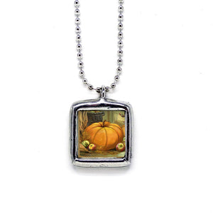 Autumn Icons • Soldered Glass Pendant
