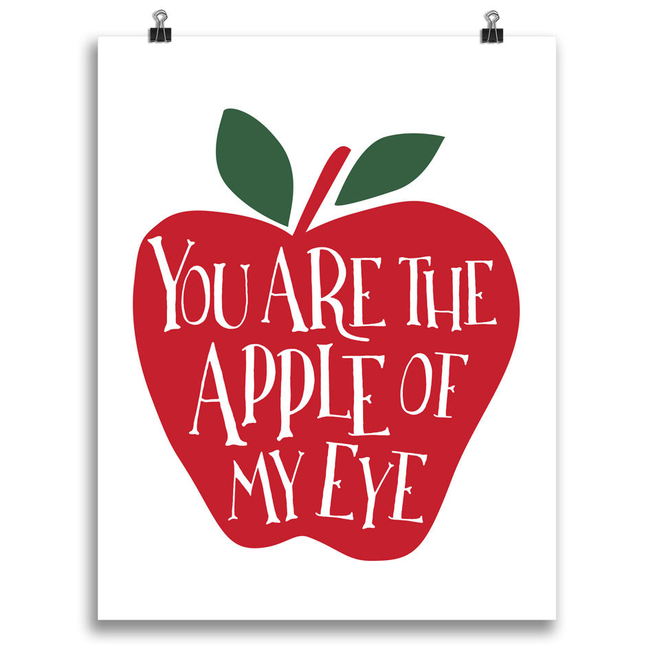 You Are the Apple of My Eye Print • Red