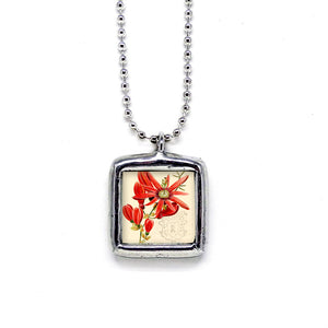 Passion Flower Pendant • Choice Of Message