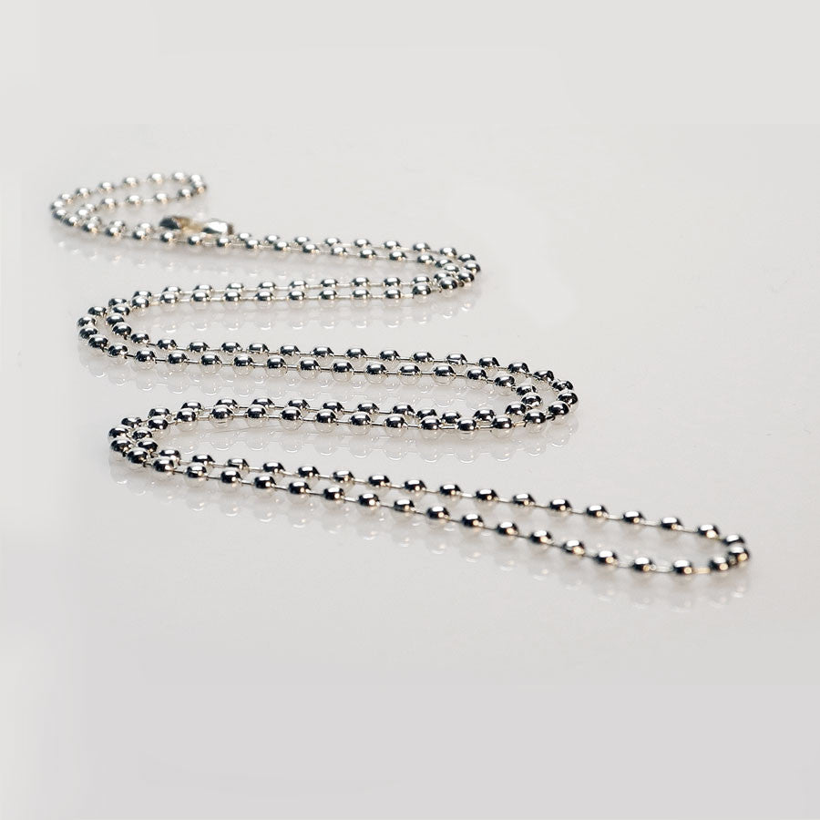 "Ball Chain • 24"" Silver-Plated - Anne Garrison Studio"