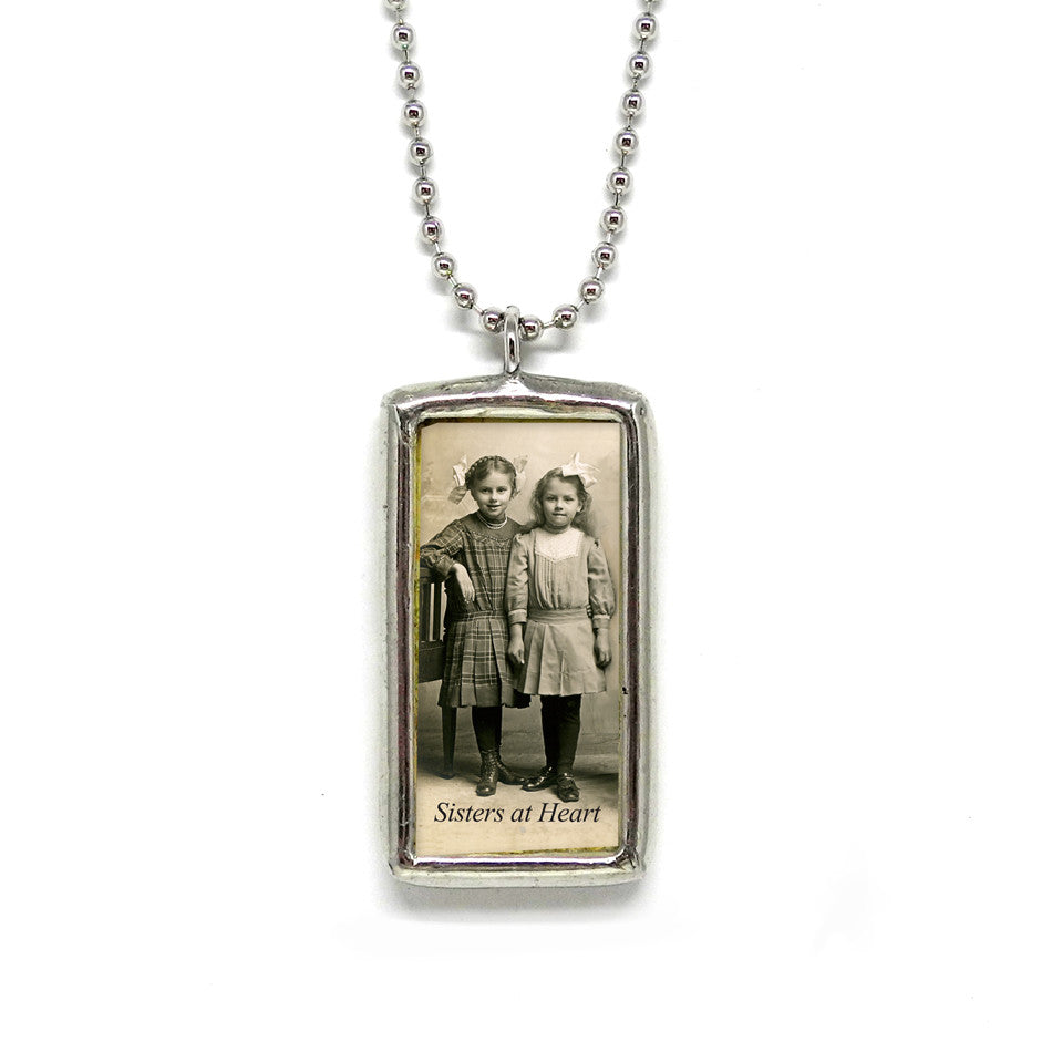 Sisters at Heart • Soldered Glass Pendant