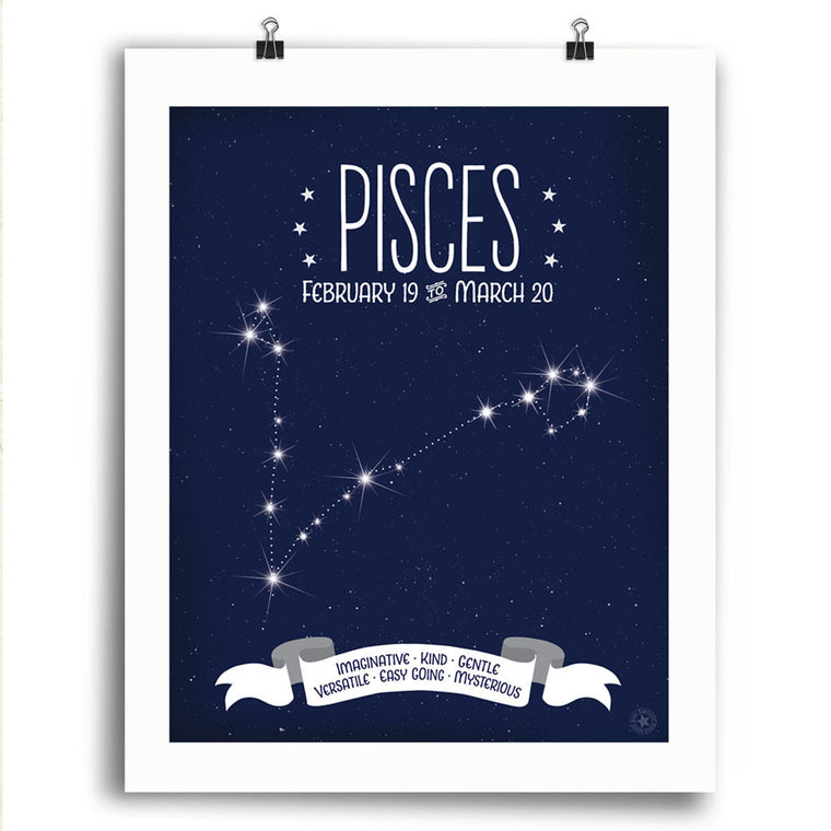 Pisces • Constellation Print