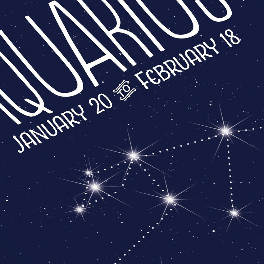 Aquarius • Constellation Print - Anne Garrison Studio
