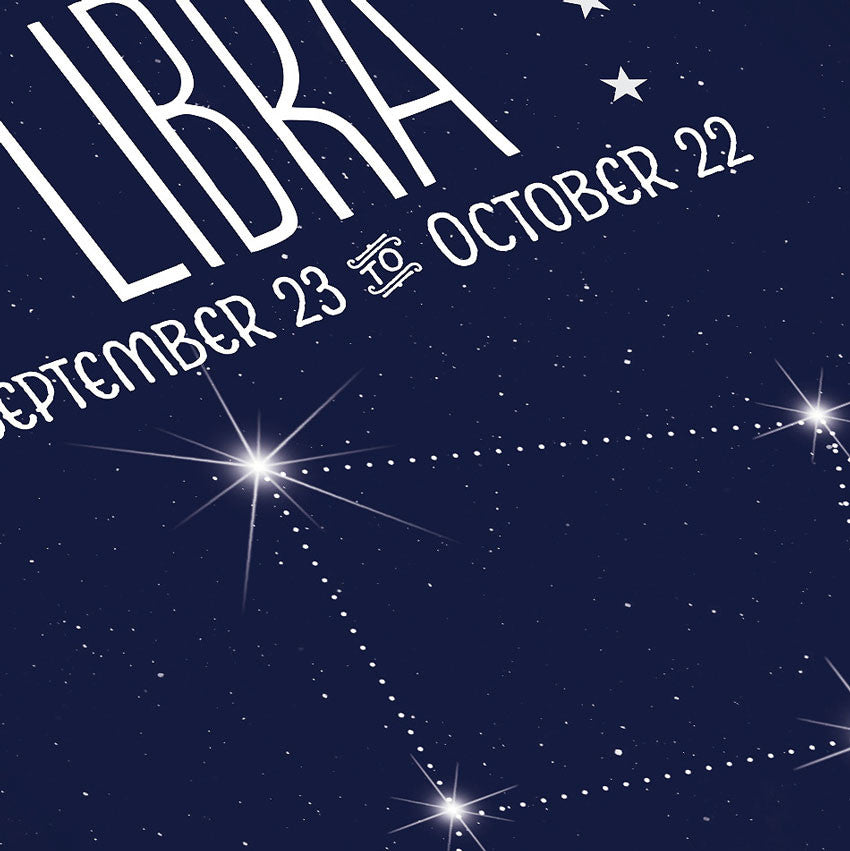 Libra Constellation Close Up