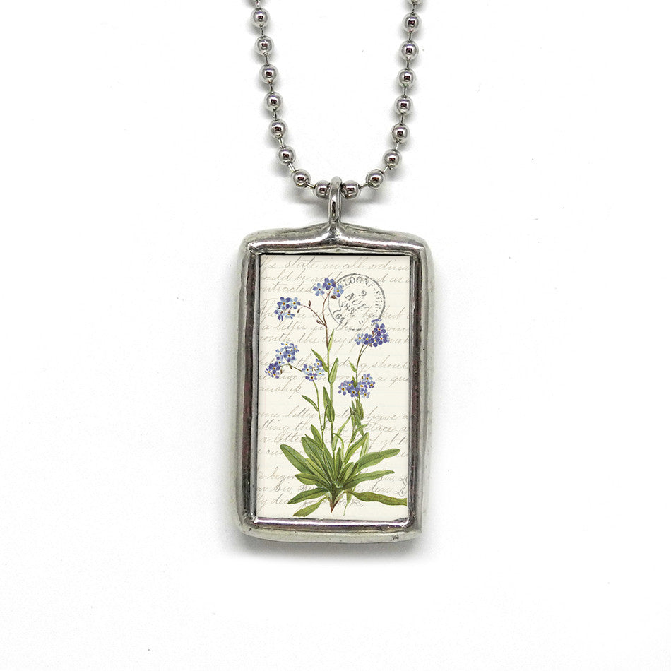 Purple Flowers Pendant • To Thine Ownself Be True