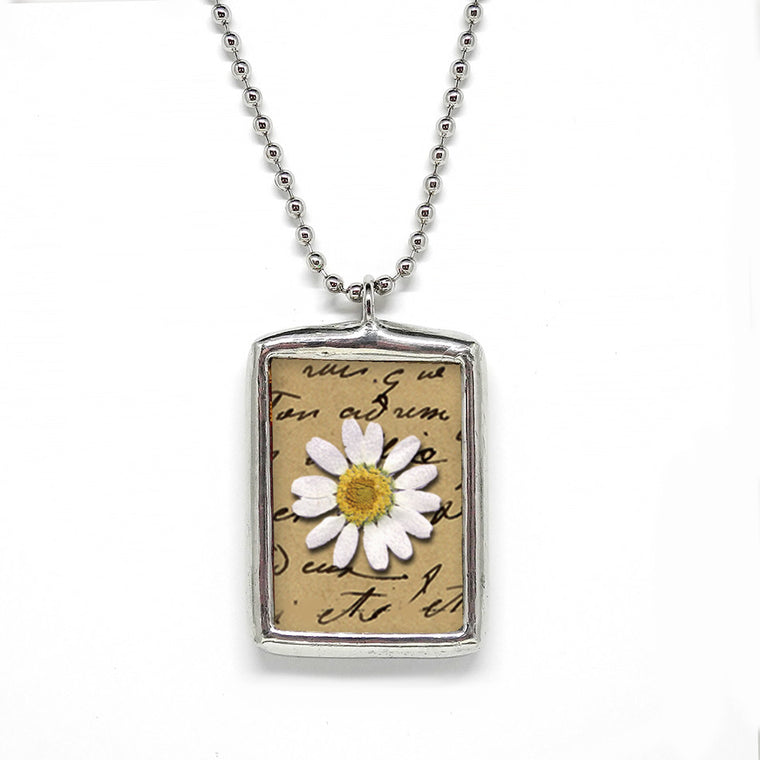 White Daisy • Friendship Pendant