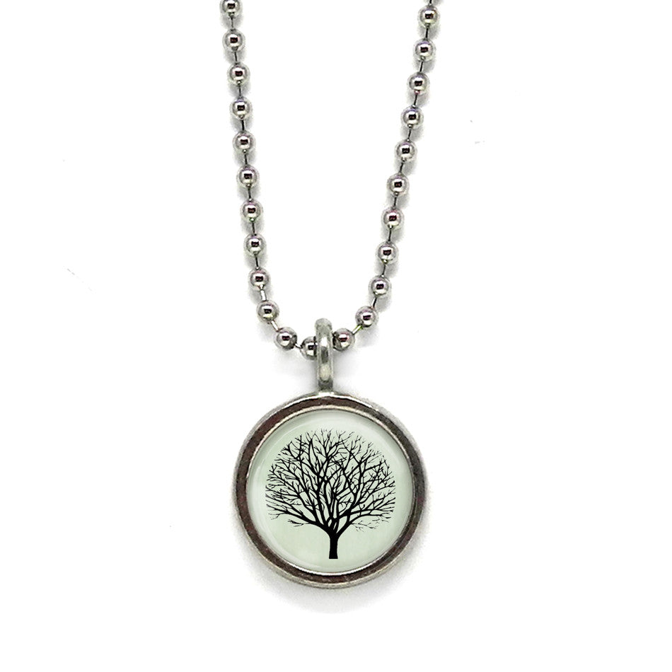 Winter Tree Pendant • Message Choices