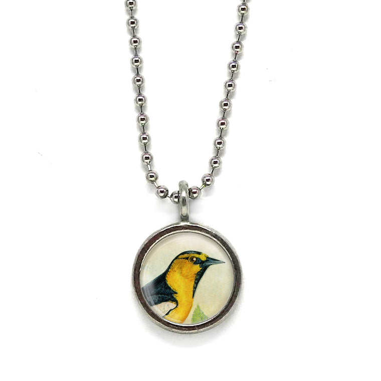 Yellow Bird Pendant • Choose a Message