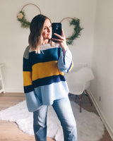 Frazier Bell Sleeve Colorblock Sweater