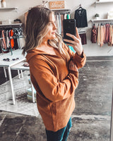 Charlotte Mixed Knit Hoodie