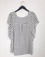Emmy Checked Blouse