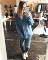 Down The Road Sweater - Blue