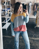 Jolie Multi-color Striped Top