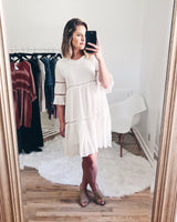Courtney Bell Sleeve Babydoll Dress